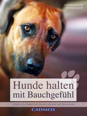 cover image of Hunde halten mit Bauchgefühl