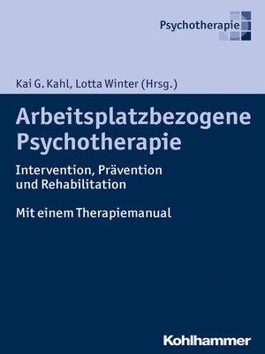 cover image of Arbeitsplatzbezogene Psychotherapie
