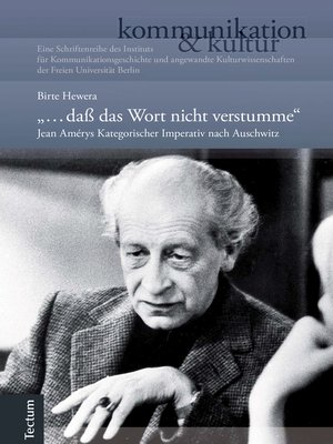"""cover image of """"... daß das Wort nicht verstumme."""""""
