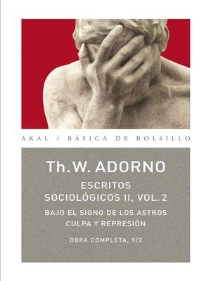 cover image of Escritos Sociológicos II. Volume 2