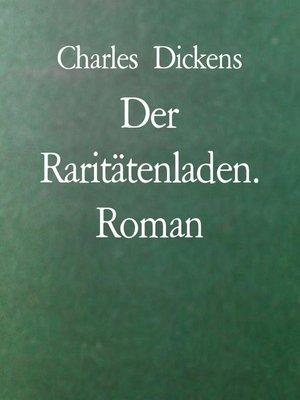 cover image of Der Raritätenladen. Roman