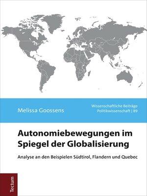 cover image of Autonomiebewegungen im Spiegel der Globalisierung