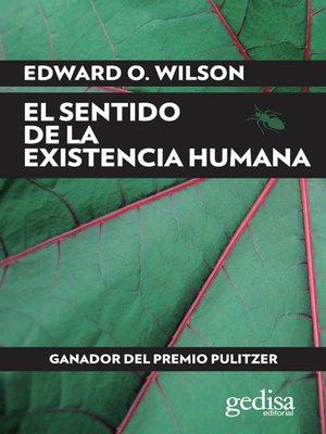 cover image of El sentido de la existencia humana