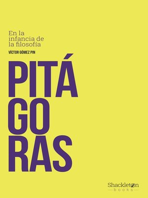 cover image of Pitágoras