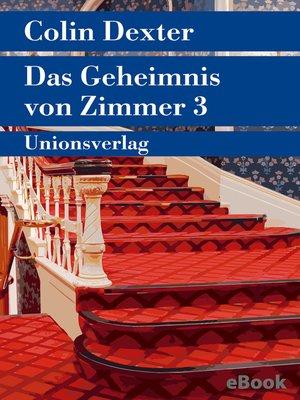 cover image of Das Geheimnis von Zimmer 3