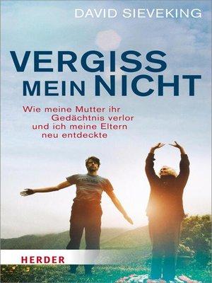 cover image of Vergiss mein nicht