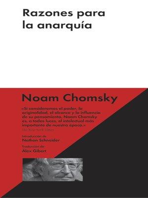cover image of Razones para la anarquía