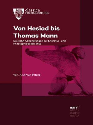 cover image of Von Hesiod bis Thomas Mann