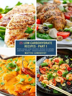 cover image of 25 Low-Carbohydrate Recipes--Part 1