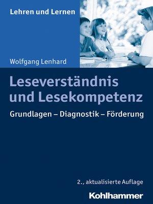 cover image of Leseverständnis und Lesekompetenz