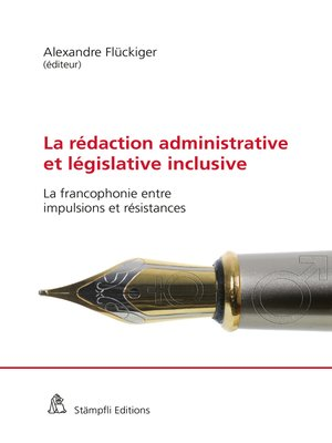 cover image of La rédaction administrative et législative inclusive