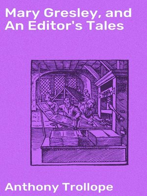 cover image of Mary Gresley, and an Editor's Tales