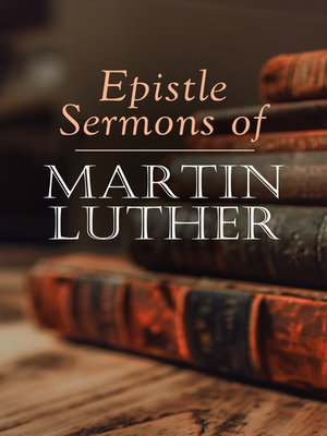 cover image of Epistle Sermons of Martin Luther