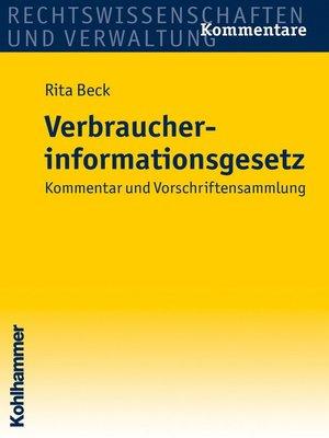 cover image of Verbraucherinformationsgesetz