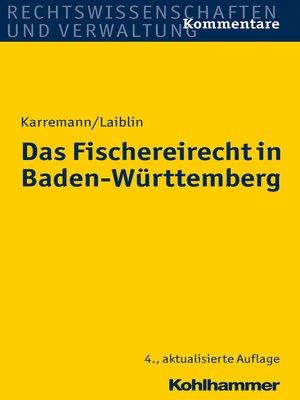 cover image of Das Fischereirecht in Baden-Württemberg
