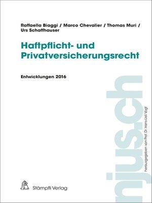 cover image of Haftpflicht- und Privatversicherungsrecht