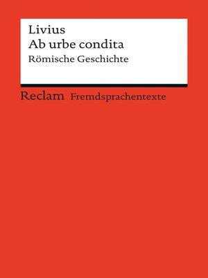 cover image of Ab urbe condita
