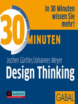 cover image of 30 Minuten Design Thinking