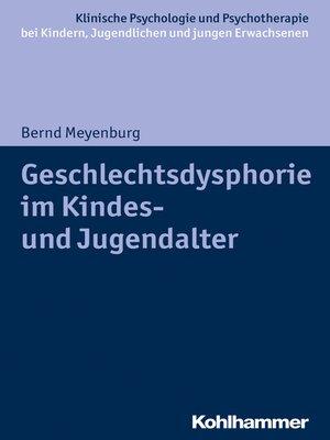 cover image of Geschlechtsdysphorie im Kindes- und Jugendalter