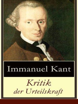 cover image of Kritik der Urteilskraft