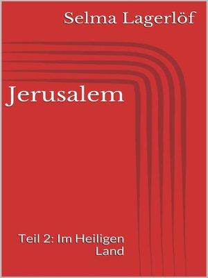 cover image of Jerusalem, Teil 2