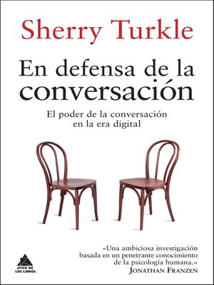 cover image of En defensa de la conversación