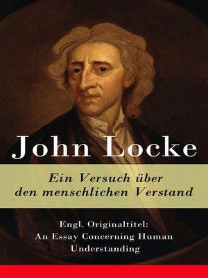 cover image of Ein Versuch über den menschlichen Verstand