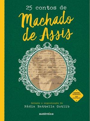 cover image of 25 contos de Machado de Assis