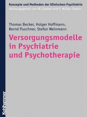 cover image of Versorgungsmodelle in Psychiatrie und Psychotherapie