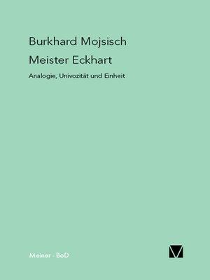 cover image of Meister Eckhart