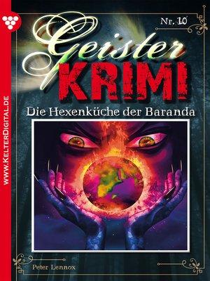 cover image of Geister-Krimi 10--Gruselroman