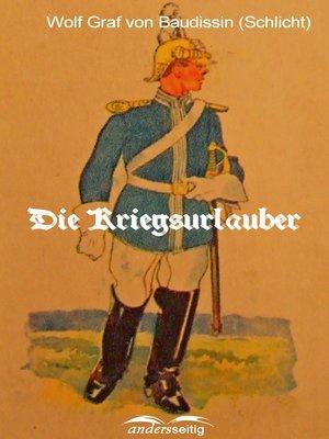 cover image of Die Kriegsurlauber
