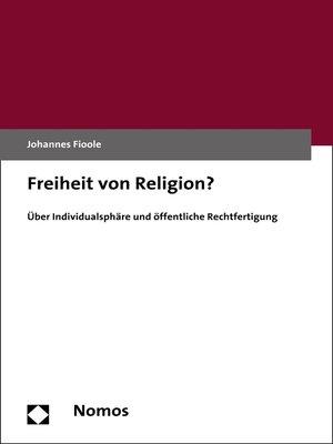 cover image of Freiheit von Religion?