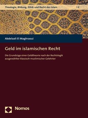 cover image of Geld im islamischen Recht