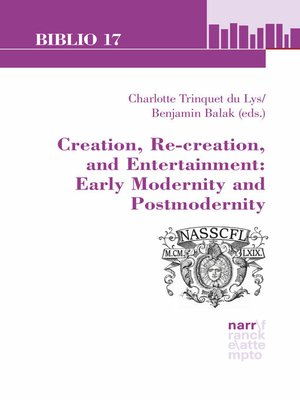 cover image of Creation, Re-creation, and Entertainment