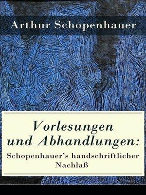 cover image of Vorlesungen und Abhandlungen