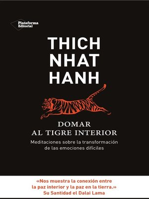 cover image of Domar al tigre interior