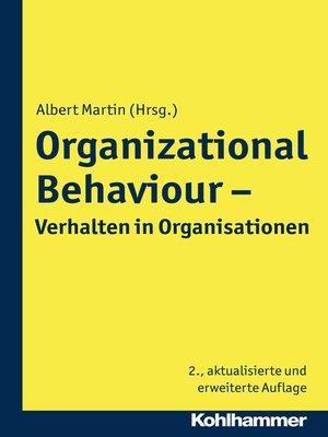 cover image of Organizational Behaviour--Verhalten in Organisationen