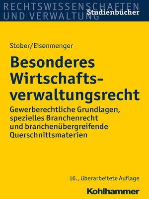 cover image of Besonderes Wirtschaftsverwaltungsrecht