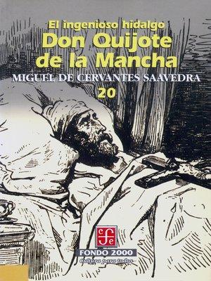 cover image of El ingenioso hidalgo don Quijote de la Mancha, 20