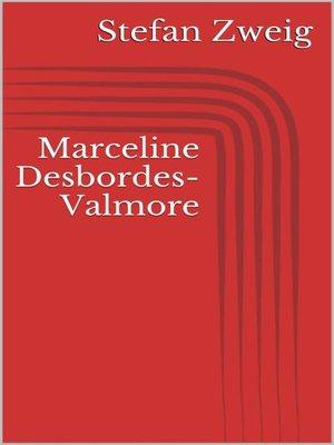 cover image of Marceline Desbordes-Valmore