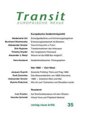 cover image of Transit 35. Europäische Revue