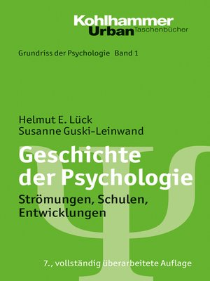 cover image of Geschichte der Psychologie