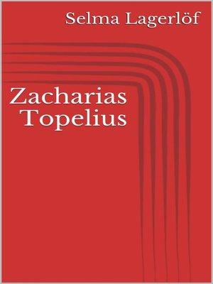 cover image of Zacharias Topelius