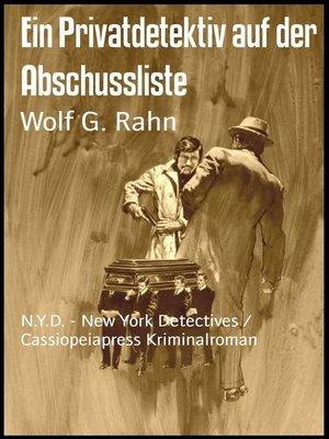 cover image of Ein Privatdetektiv auf der Abschussliste
