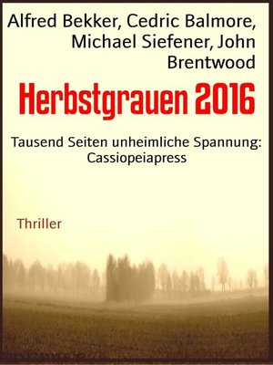 cover image of Herbstgrauen 2016