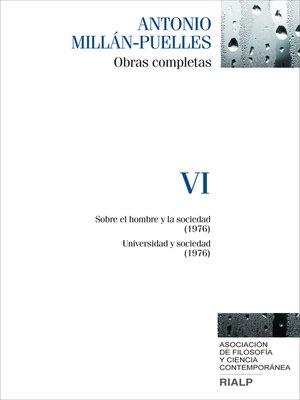 cover image of Millán-Puelles. VI. Obras completas