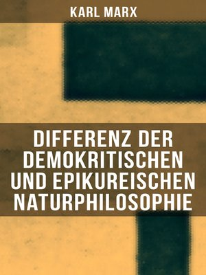 cover image of Differenz der demokritischen und epikureischen Naturphilosophie