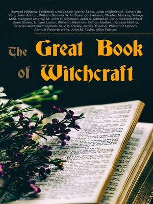 cover image of The Great Book of Witchcraft