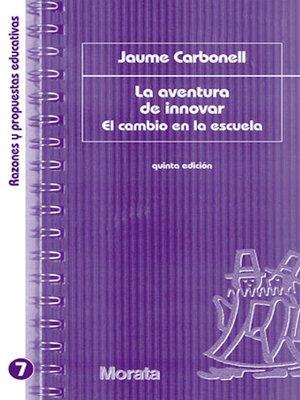 cover image of La aventura de innovar